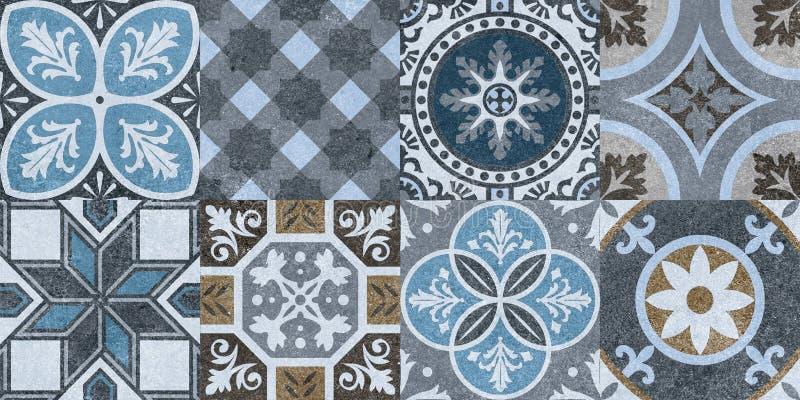 Digital Wall Tiles Design Print In Ceramic Industries Beautiful Set Of Tiles In Portuguese Spanish Italian Style In Wall Decor Stock Illustration Illustration Of Italian Element 200947599