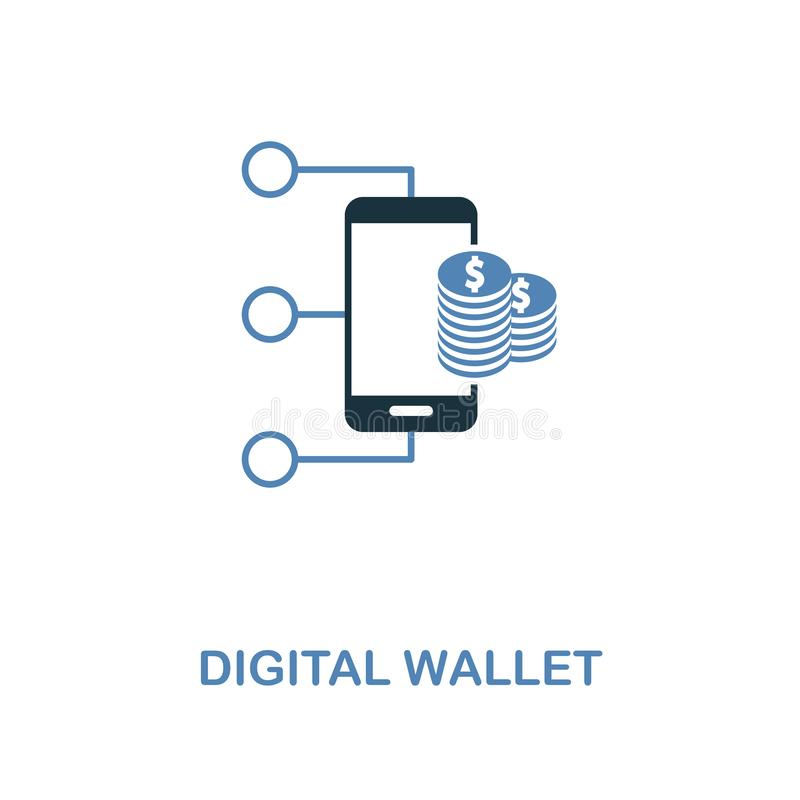 Digital Wallet icon in two colors design. Pixel perfect symbols from personal finance icon collection. UI and UX. Illustration of. Digital Wallet creative icon vector illustration