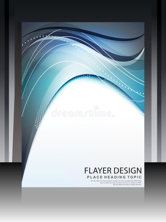 Digital Wave Flayer Design Royalty Free Stock Images