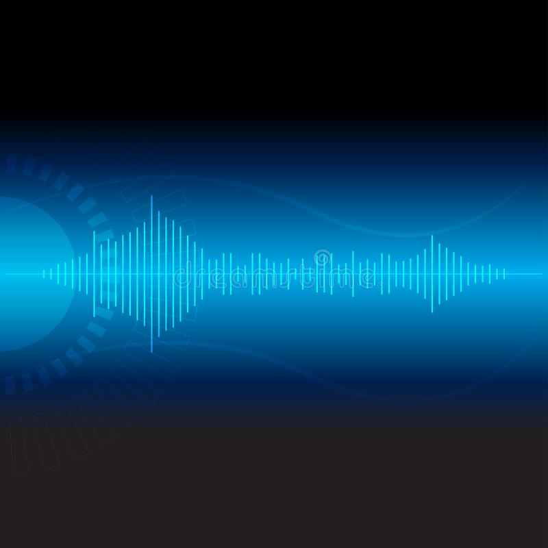 Digital wave technology,vector communication abstract background illustrations royalty free illustration