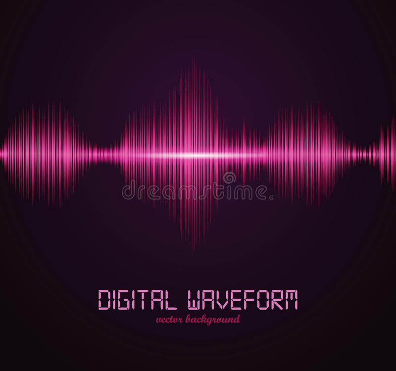 Digital waveform. Vector illustration for your artwork royalty free illustration
