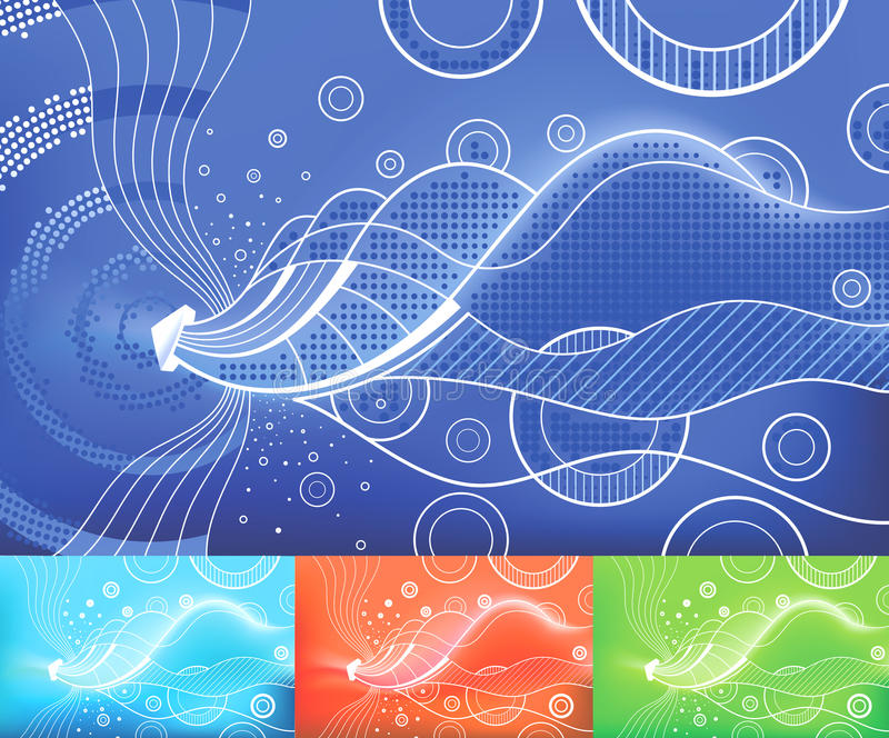 Digital Waves royalty free stock images