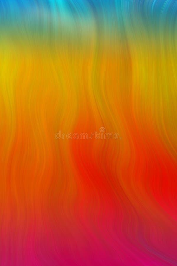 Digital Wavy Flames Of Fire Stock Photo