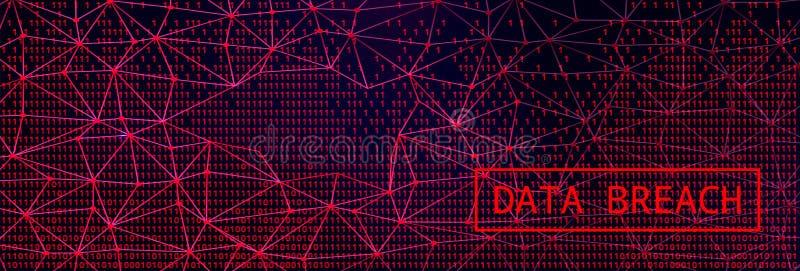 Digital Web on Dark BG. Data Breach Concept. Digital Web on Dark Background. Data Breach Concept royalty free illustration