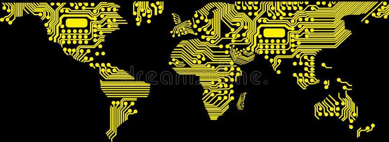 Digital-Welt stock abbildung