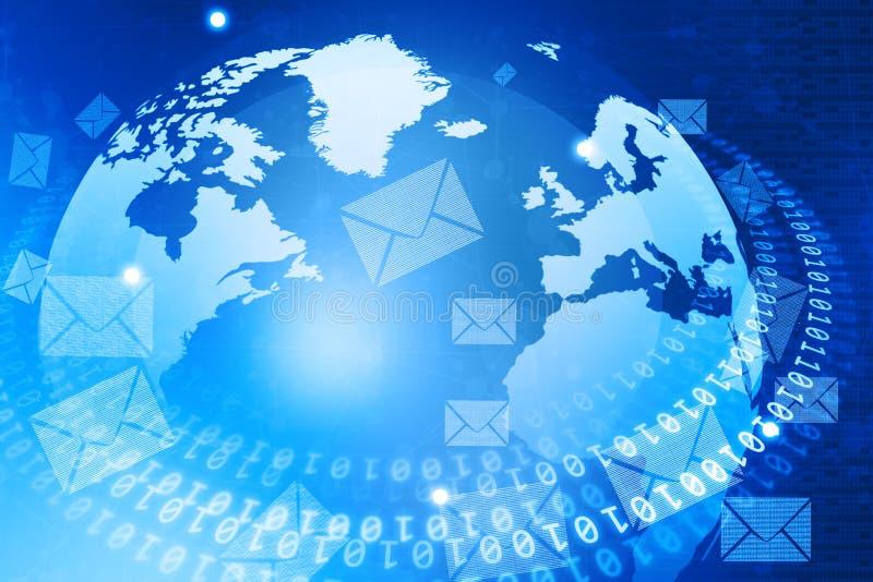 Digital-Welt mit E-Mail-Verteilung lizenzfreie abbildung