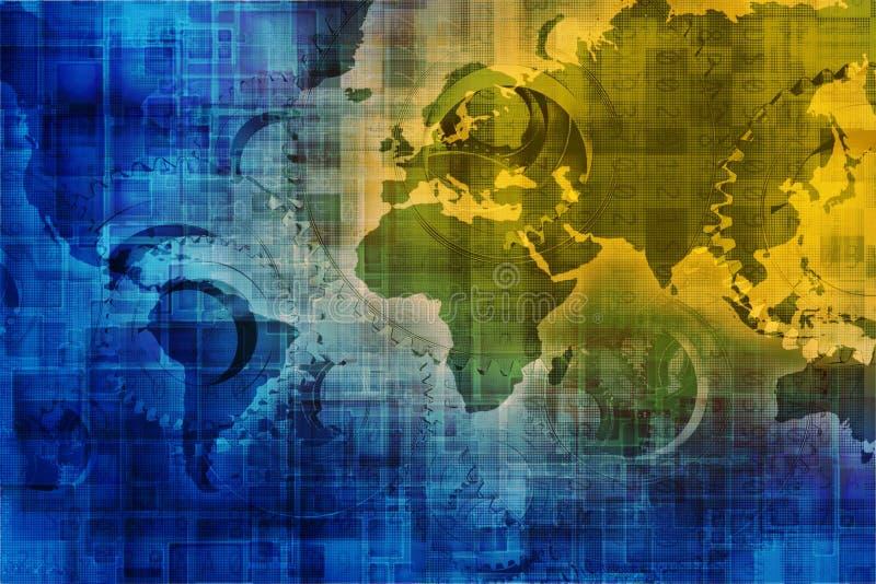 Digital-Welthintergrund vektor abbildung