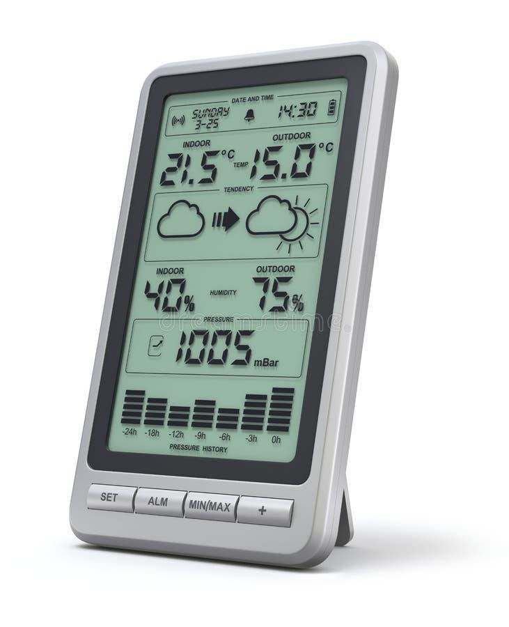 Digital-Wetterstation vektor abbildung