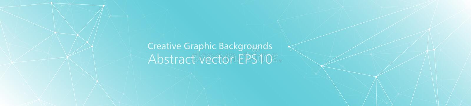 Digital wireframe creative graphic backgrounds, connected lines vector pattern royalty free illustration