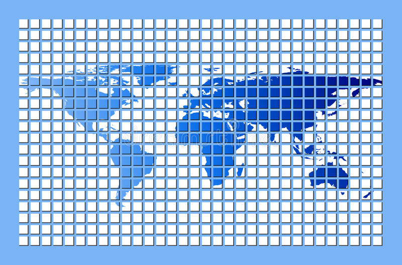 Download Digital world stock illustration. Image of continents - 13390491