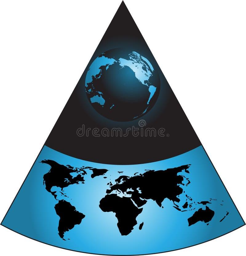Download Digital world stock vector. Illustration of planet, globe - 5800819