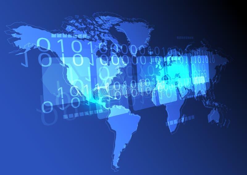 Digital world concept background