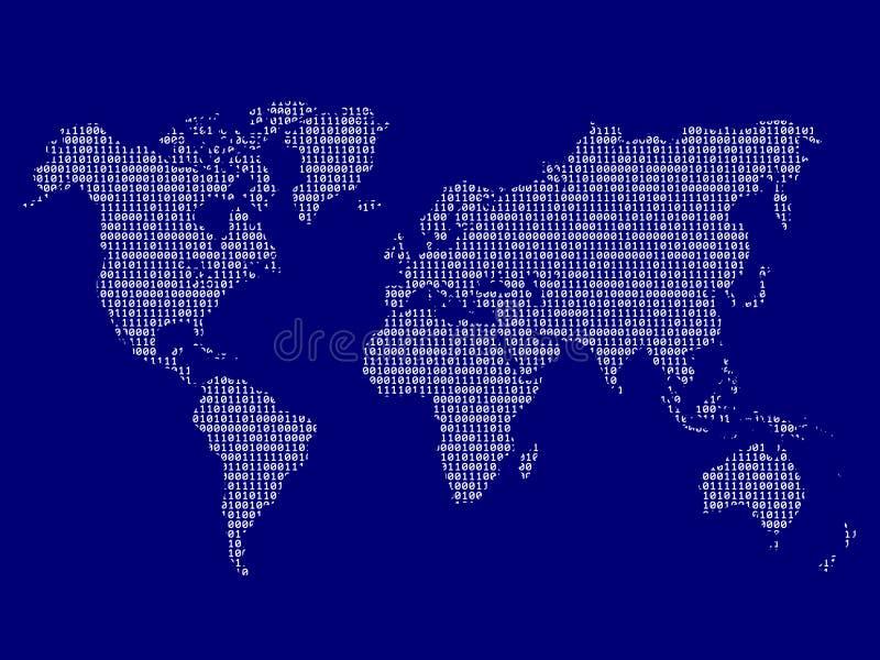 Download Digital world map stock vector. Illustration of binary - 20058666