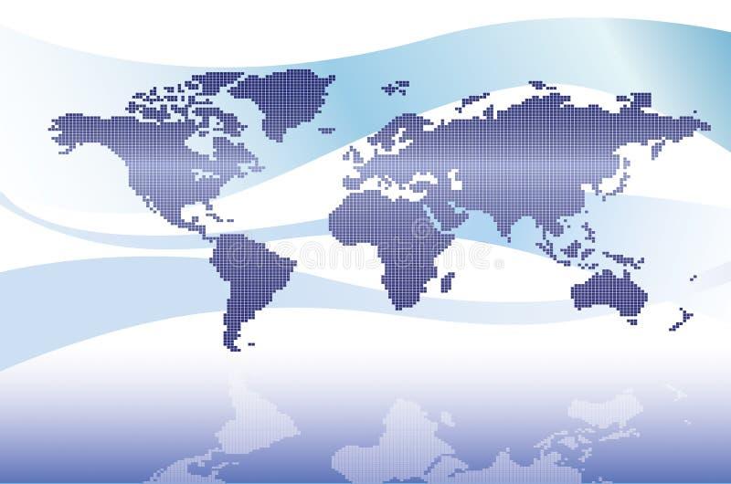 Download Digital world map stock illustration. Image of ocean, south - 3053531
