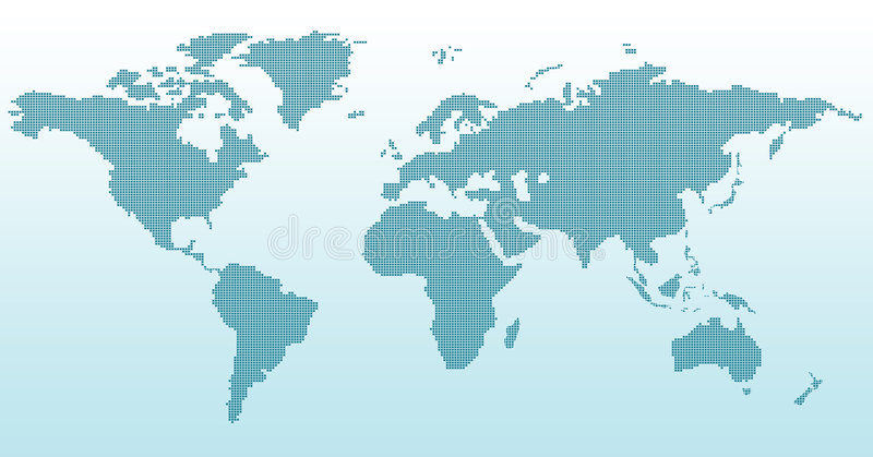 Digital world map stock illustration illustration of asia 8281912 digital world map gumiabroncs Gallery