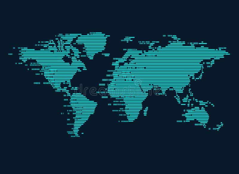 Digital worldmap stock illustrationer