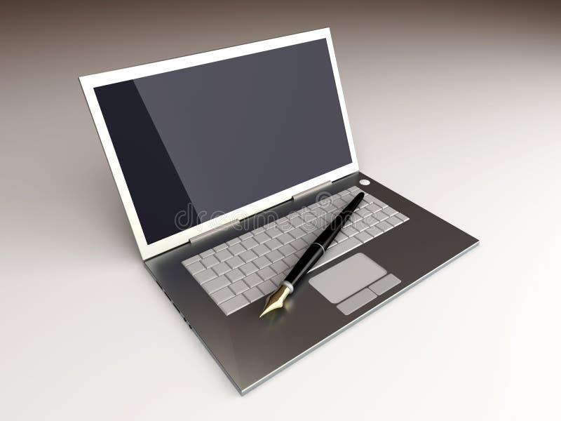 Digital Writer stock illustration