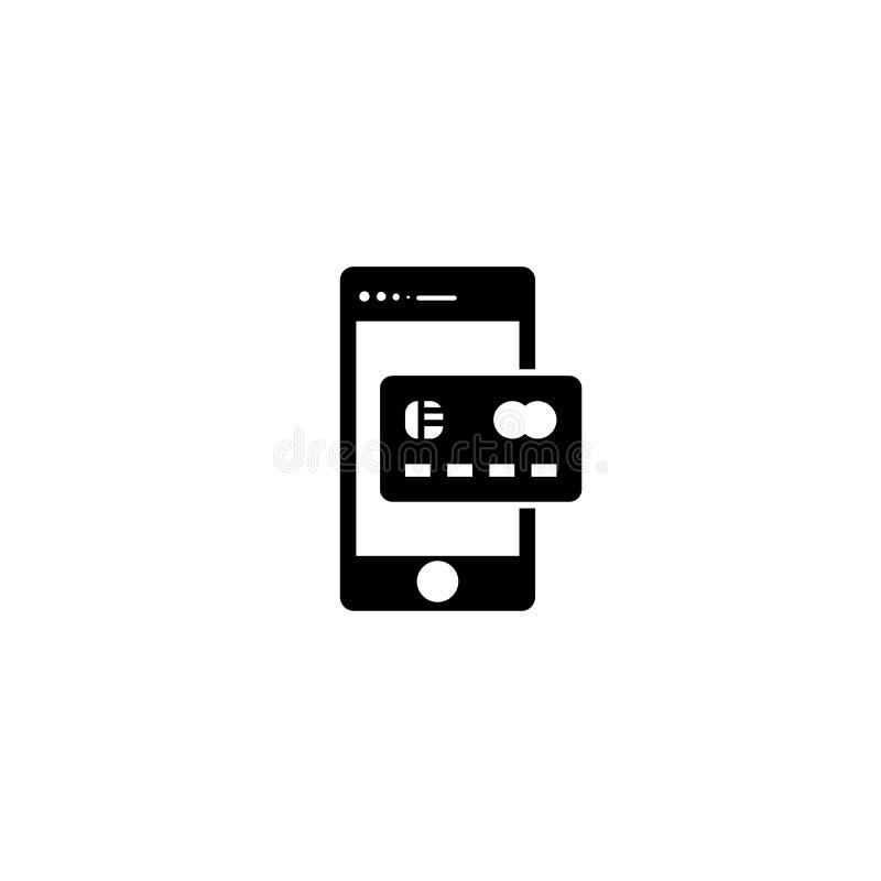 Digital-Zahlungsmethode Ikonenvektor stock abbildung