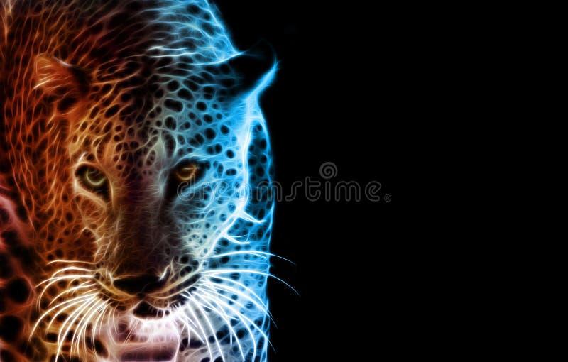 Digital-Zeichnung eines Tigers lizenzfreie abbildung