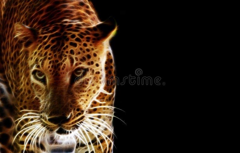Digital-Zeichnung eines Tigers stock abbildung