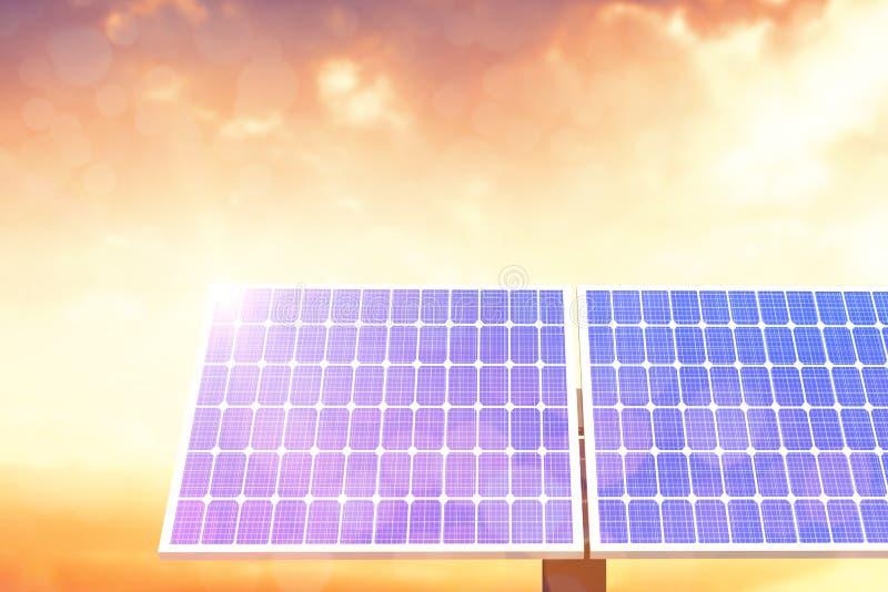 Digital-Zusammensetzung des Sonnenkollektors 3d vektor abbildung