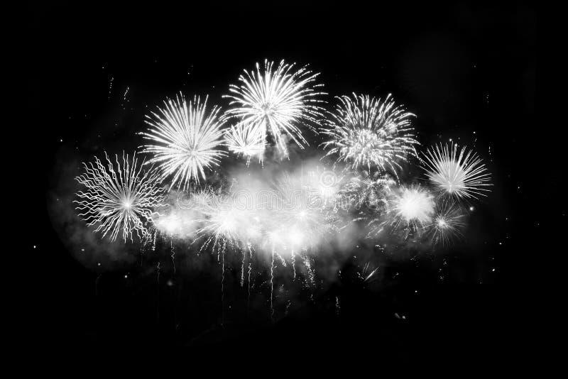 Digital-Zusammensetzung von Feuerwerken lizenzfreies stockfoto