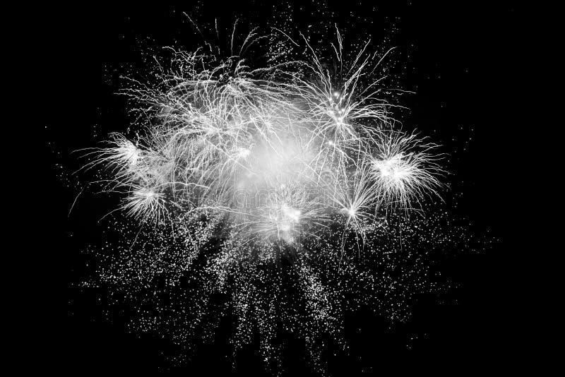 Digital-Zusammensetzung von Feuerwerken stockfotografie
