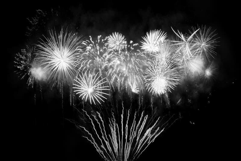 Digital-Zusammensetzung von Feuerwerken lizenzfreie stockfotografie