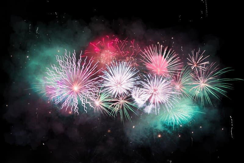Digital-Zusammensetzung von Feuerwerken stockfoto