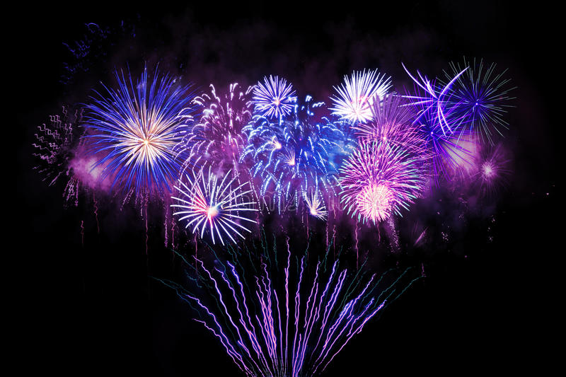 Digital-Zusammensetzung von Feuerwerken lizenzfreie stockfotos