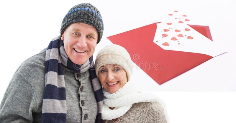 Digital-Zusammensetzung von liebevollen Paaren lizenzfreie stockfotos