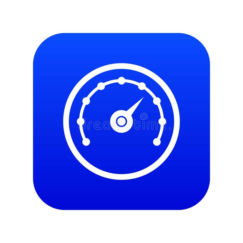 Digitala blått för hastighetsmätaresymbol royaltyfri illustrationer