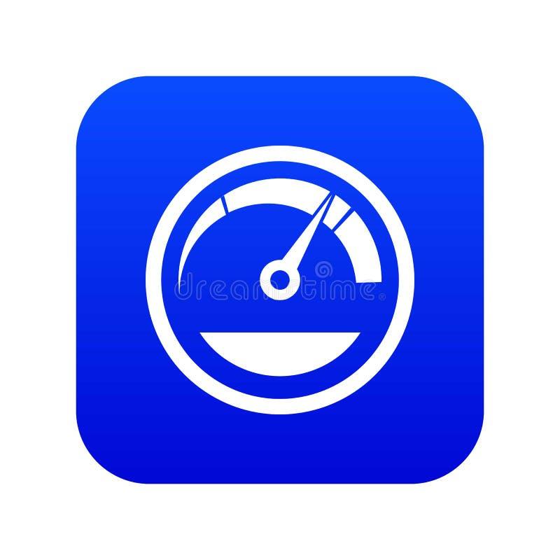 Digitala blått för hastighetsmätaresymbol vektor illustrationer