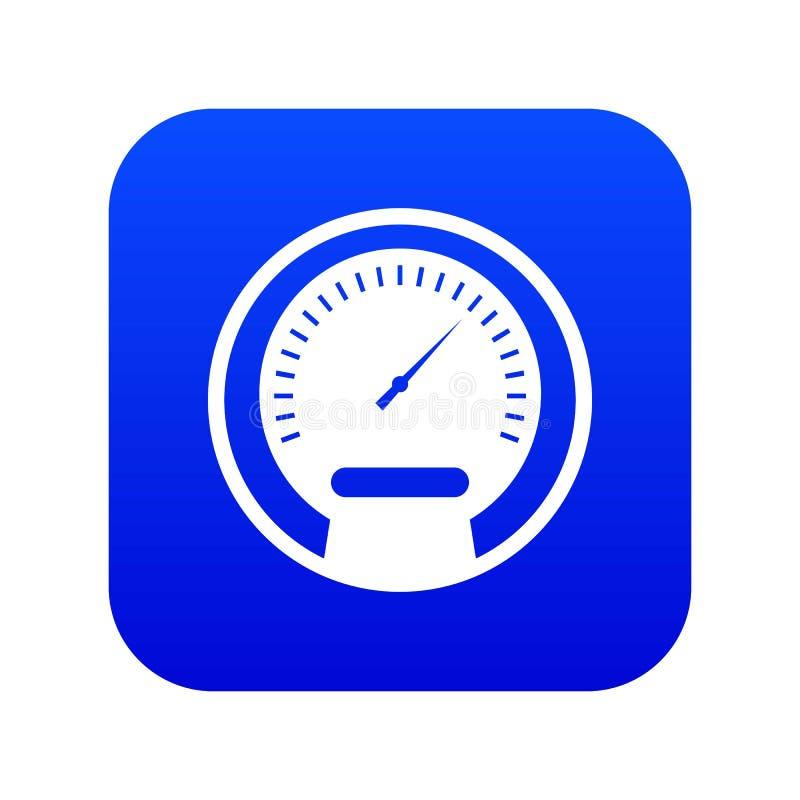 Digitala blått för hastighetsmätaresymbol stock illustrationer