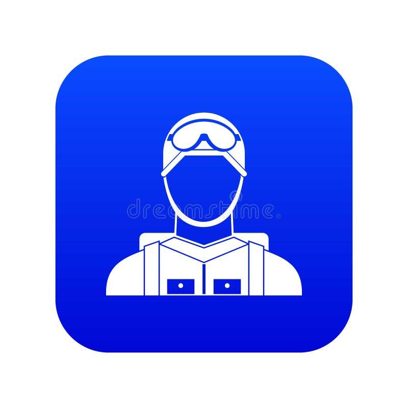 Digitala blått för militär fallskärmsjägaresymbol royaltyfri illustrationer