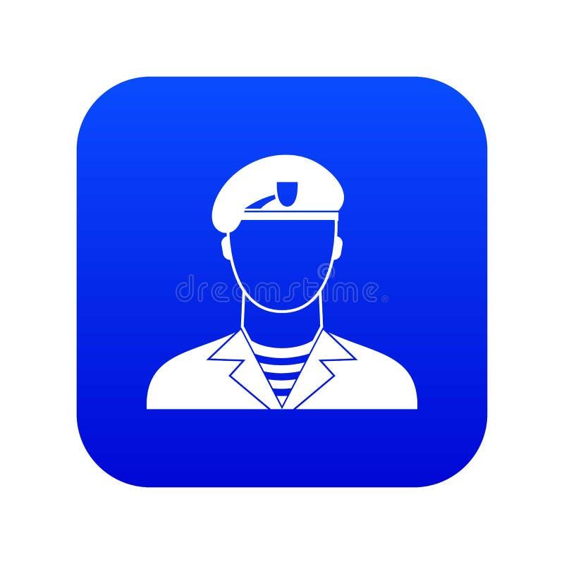 Digitala blått för modern armésoldatsymbol royaltyfri illustrationer