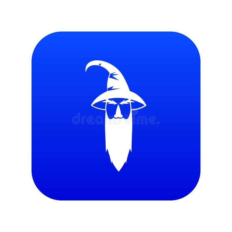 Digitala blått för trollkarlsymbol royaltyfri illustrationer