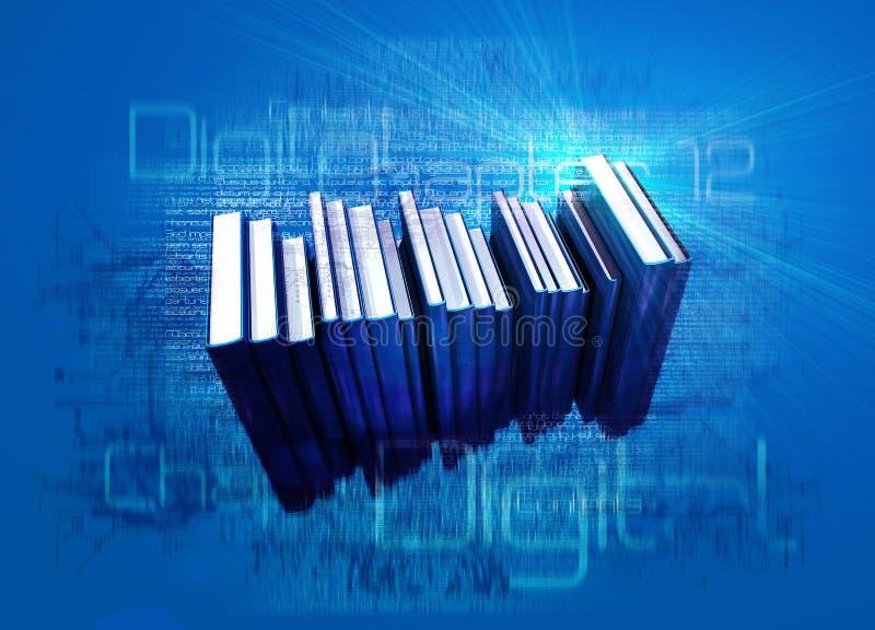 digitala ebooks royaltyfri illustrationer