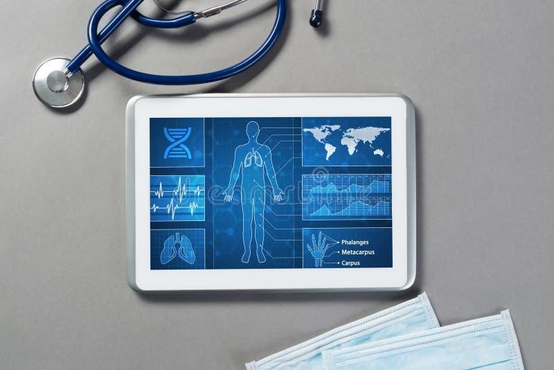 Digitala teknologier i medicin arkivbild