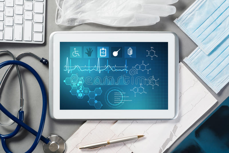 Digitala teknologier i medicin arkivbilder