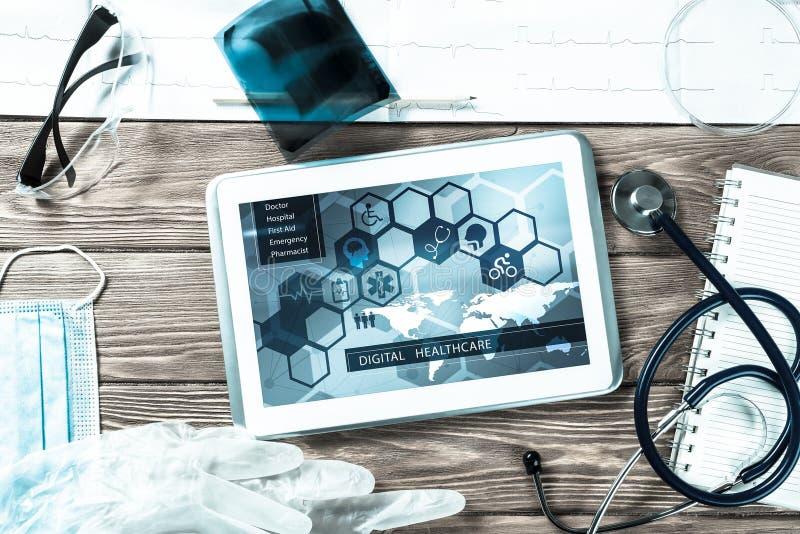 Digitala teknologier i medicin fotografering för bildbyråer