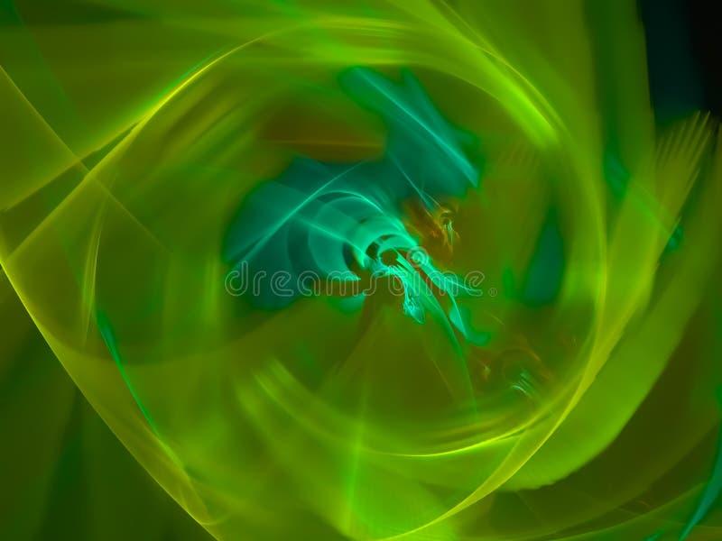 Digitale abstracte fractal, exclusieve surreal de wervelingsvorm van de nevelmacht, decoratie mooi ontwerp, fantasie, stock illustratie