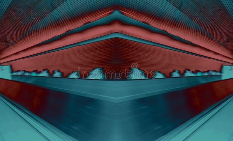 Digitale abstracte kunst als achtergrond die met de techniek van de fotocollage wordt gemaakt stock afbeelding