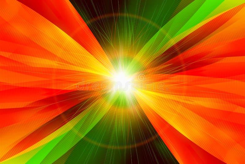 Digitale abstractie met licht op centrum vector illustratie