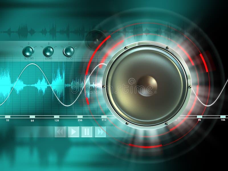 Digitale audio vector illustratie