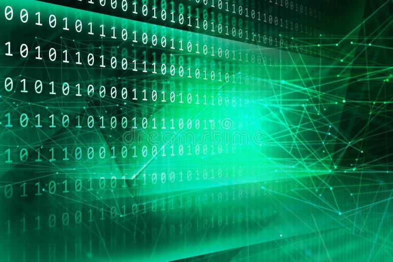 Digitale binaire code achtergrondconceptenreeks stock illustratie