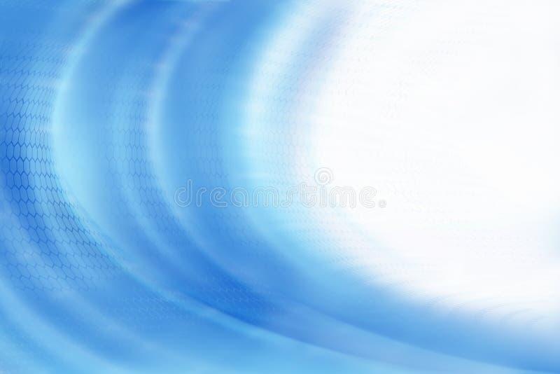 Digitale Blauwe Golf met exemplaarruimte royalty-vrije illustratie