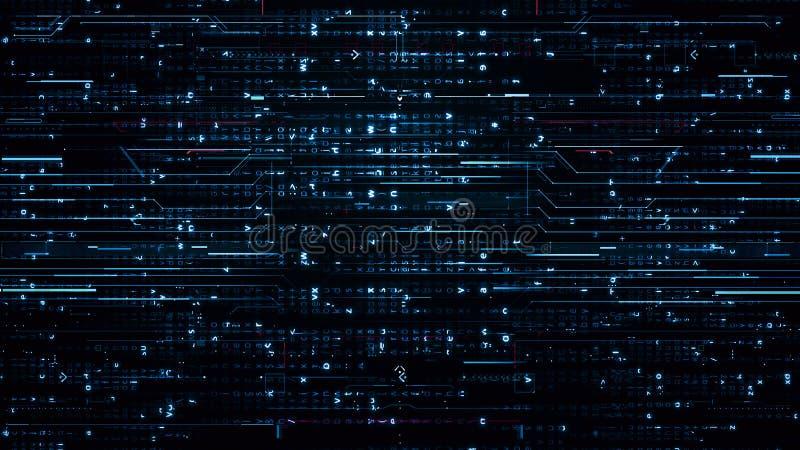 Digitale blauwe Hi-Tech Achtergronden royalty-vrije stock foto's