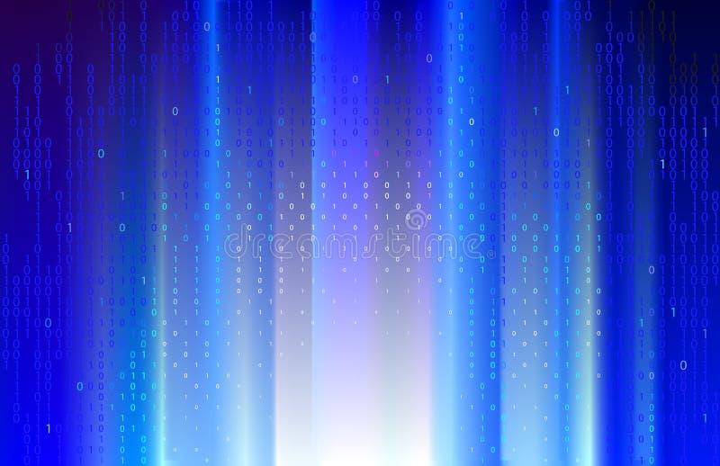 Digitale blauwe stralen. vector illustratie