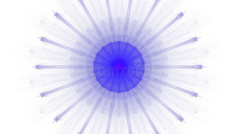 Digitale blauwe trillend van het kunstontwerp op witte achtergrond vector illustratie